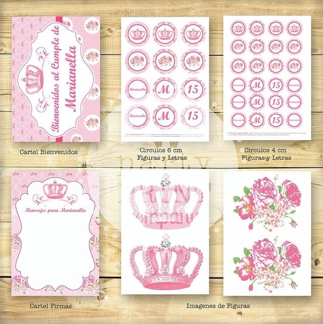 KIT SHABBY CHIC ROSA en internet