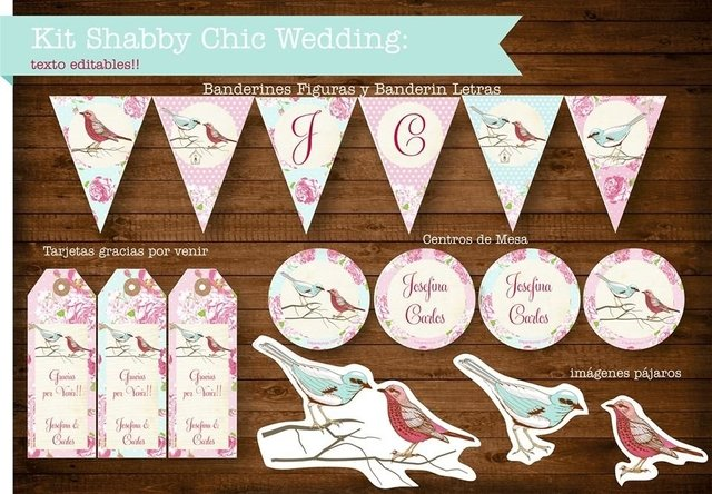 KIT SHABBY CHIC WEDDING