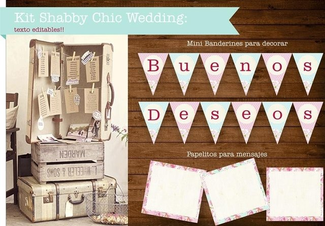 KIT SHABBY CHIC WEDDING - tienda online