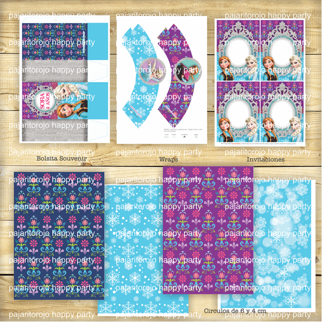 KIT FROZEN - Pajaritorojo Happy Party