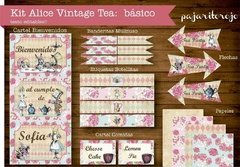 KIT ALICIA VINTAGE TEA - comprar online
