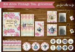 KIT ALICIA VINTAGE TEA - Pajaritorojo Happy Party
