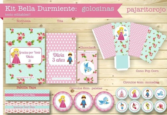 KIT BELLA DURMIENTE - Pajaritorojo Happy Party
