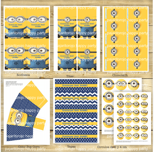 KIT MINIONS - Pajaritorojo Happy Party