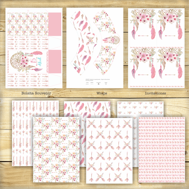 KIT BOHO WATERCOLOR en internet