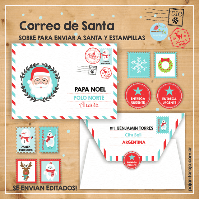 CORREO DE SANTA SET - Pajaritorojo Happy Party