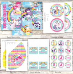 KIT PEQUEÑO PONY - Pajaritorojo Happy Party