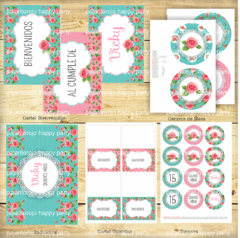 KIT SHABBY TIFFANY - Pajaritorojo Happy Party