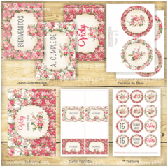 KIT SHABBY ROSE - Pajaritorojo Happy Party