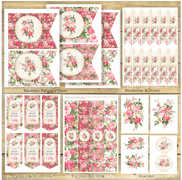 KIT SHABBY ROSE en internet