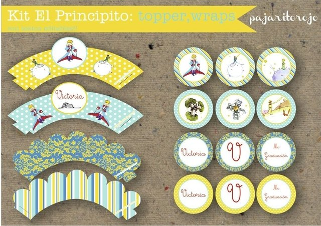 KIT PRINCIPITO - Pajaritorojo Happy Party