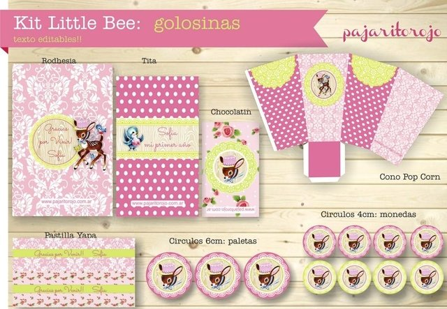 KIT LITTLE BEE GIRL - Pajaritorojo Happy Party