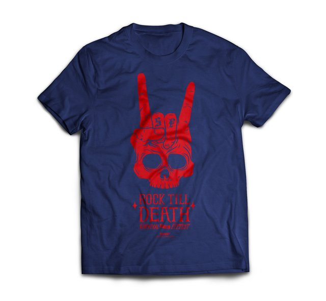 T SHIRT SUMMER  ROCK TILL DEATH