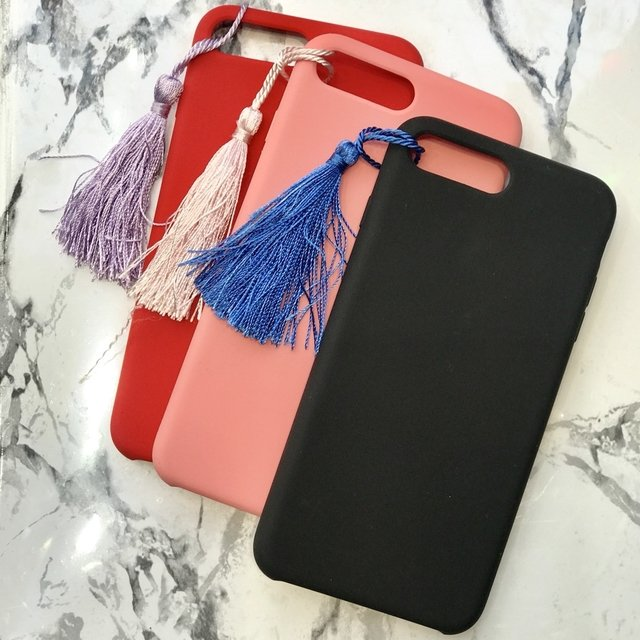 Funda leather case con borla