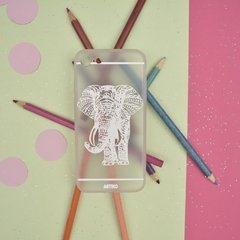 Funda India Elephant Blanco