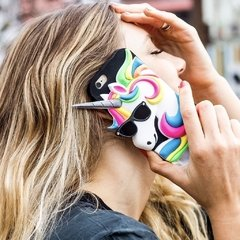 Funda Silicona Unicornio Multicolor