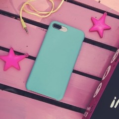 Funda Silicona Leather Mint Blue
