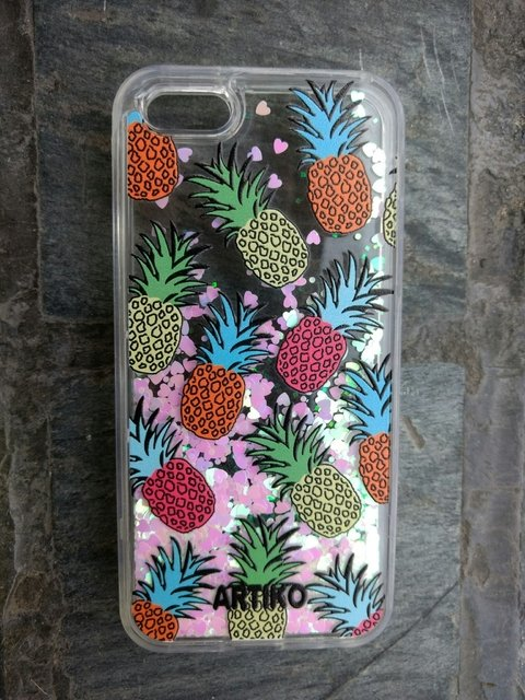 Funda Glitter  Pineapple