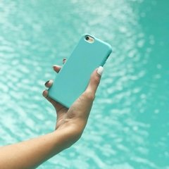 Funda Silicona Leather Mint Blue - comprar online