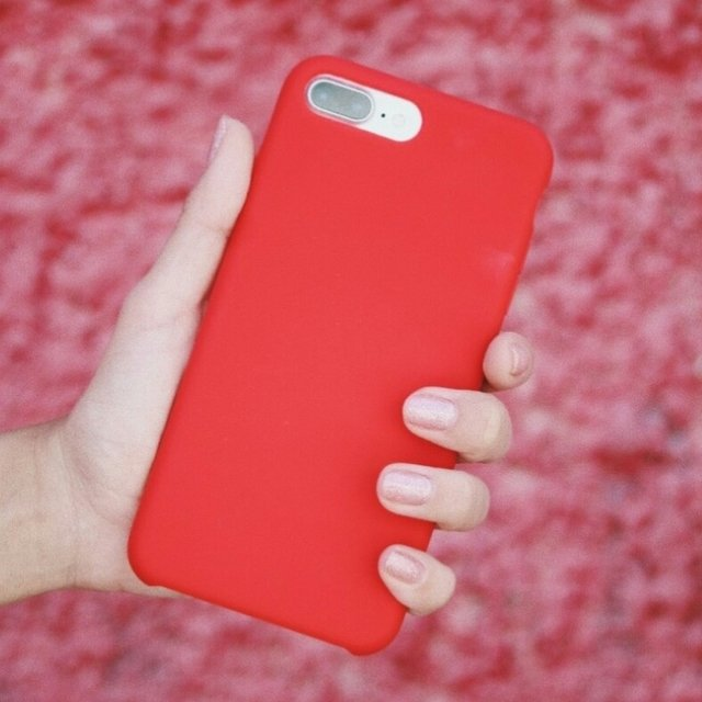 Funda Silicona Leather Case Red