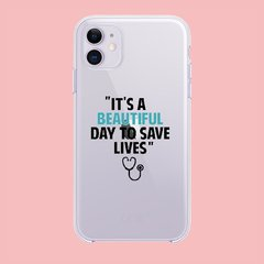 Funda TPU  Greys Anatomy Its a beautiful Day by Netflix - Artiko