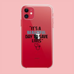 Imagen de Funda TPU  Greys Anatomy Its a beautiful Day by Netflix