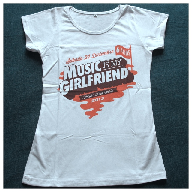 Remera Music is my Girlfriend 2013 (Merchandise Oficial) en internet