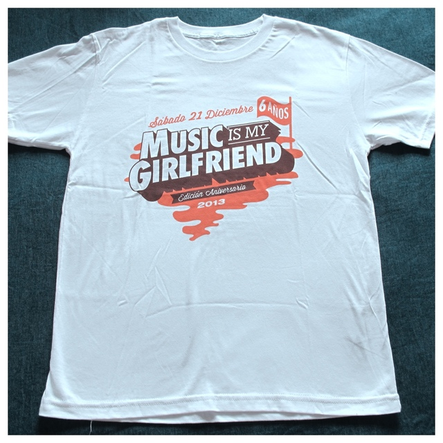 Remera Music is my Girlfriend 2013 (Merchandise Oficial) - tienda online