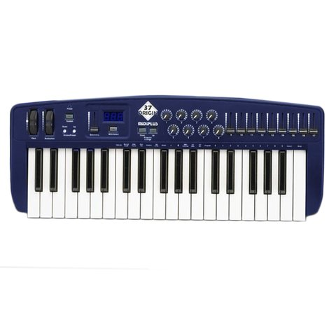 ORIGIN 37 TECLADO MUSICAL MIDI USB  37 TECLAS SENSITIVAS