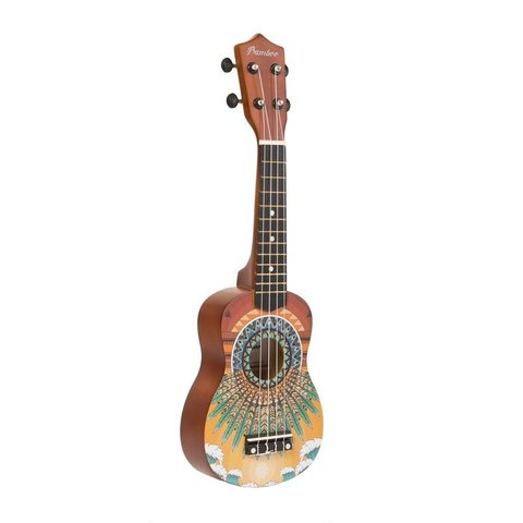 Ukelele Soprano BAMBOO The Sunset de estudio con diseño. Incluye funda BD-38