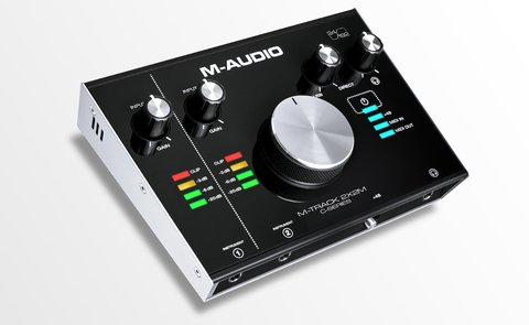 M-Audio M-TRACK 2x2M Interfaz de Audio USB 2 input / 2 output.