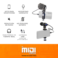 MICROFONO PROFESIONAL ALCTRON M598 PARA VIDEO SMART PHONE