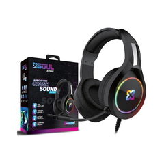 AURICULAR GAMER CON LUCES Y MICROFONO XSOUL GAME XH100 Crush Sound