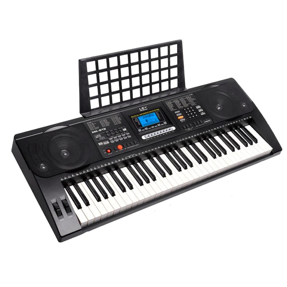 Teclado Organo Electronico MK-816 USB Sensitivo Con Fuente