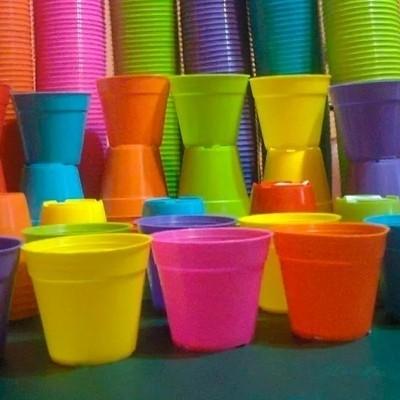 Maceta plastica n 10 redonda varios colores - Macetas de colores ...