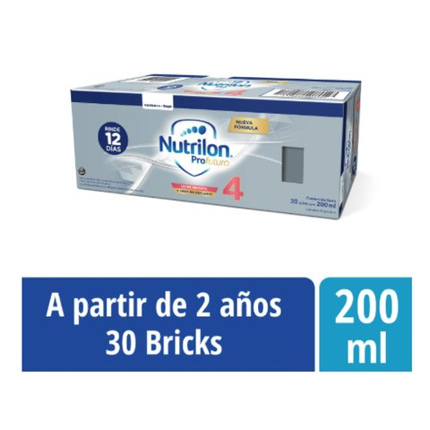 NUTRILON 4 ProFutura x 200 ml (30 bricks de 200ml)