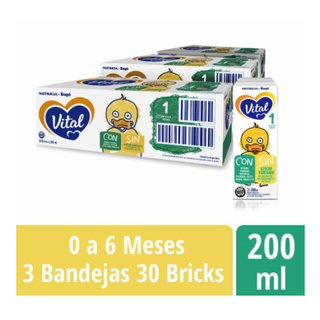 VITAL 1 Nutri Plus x 200ml 3 packs 90 bricks