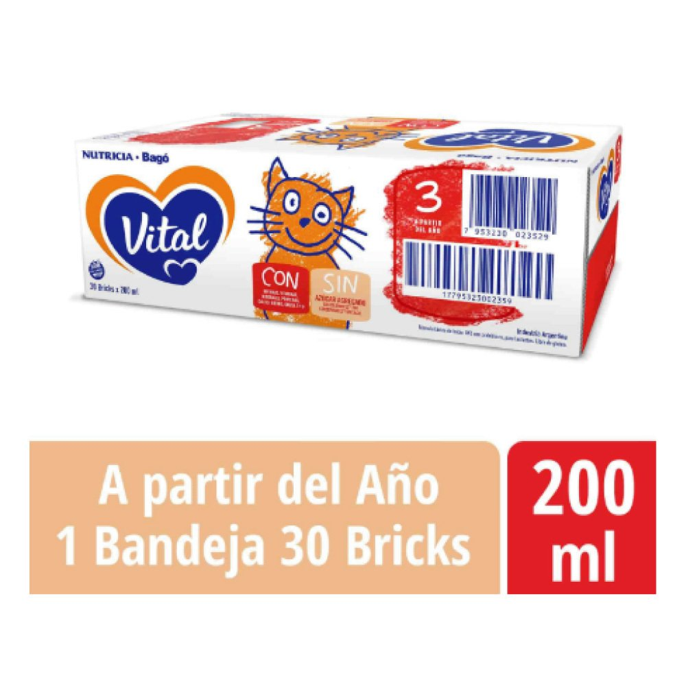 Vital 3 X 200ml 3 packs (90 Unidades)