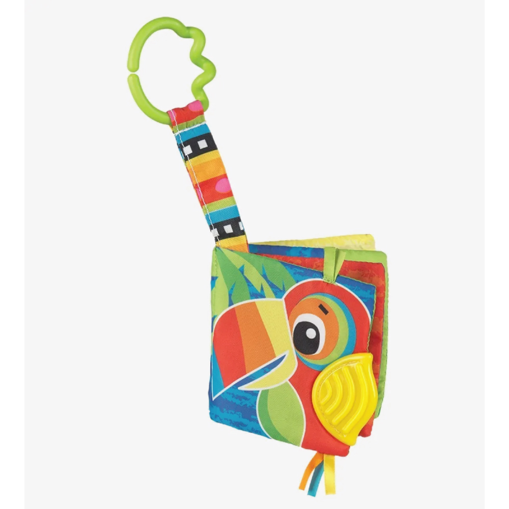 Playgro Libro Con Modrillo Para Bebe Jazzy Jungle Teether