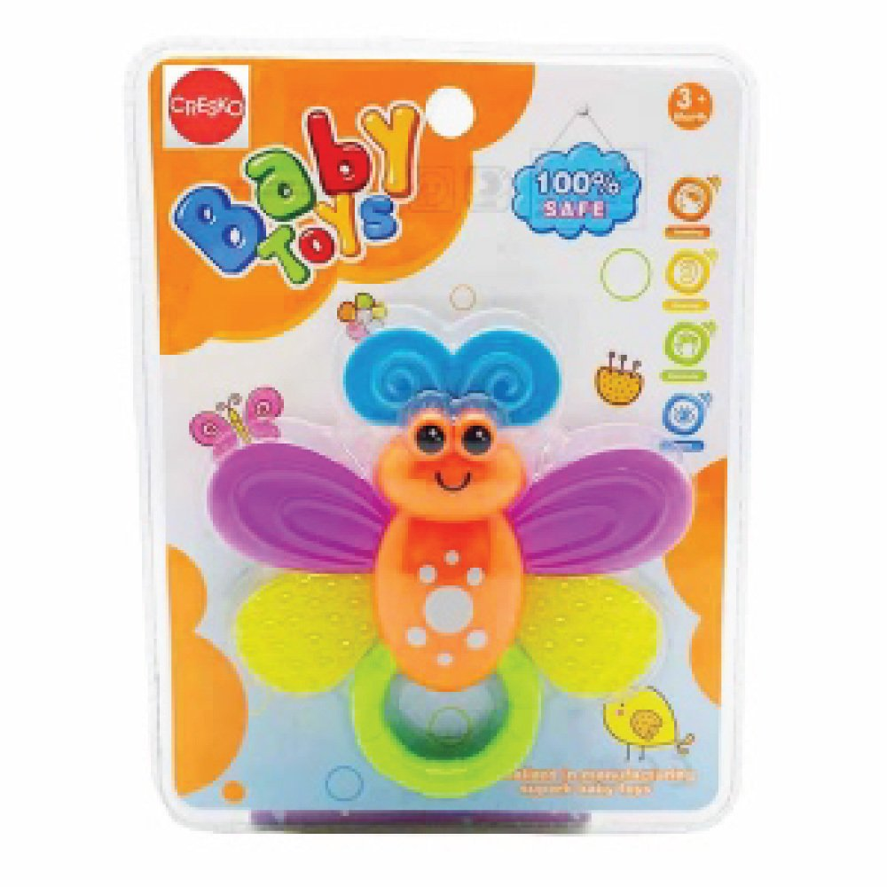 CRESKO BUTTERFLY TEETHER RATTLE