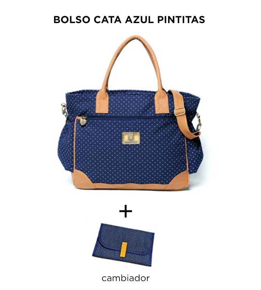 Bolso Cata Azul Pintitas de Happy Little Moments - comprar online