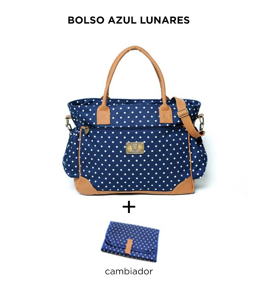 Bolso Cata Azul Lunares de Happy Little Moments en internet