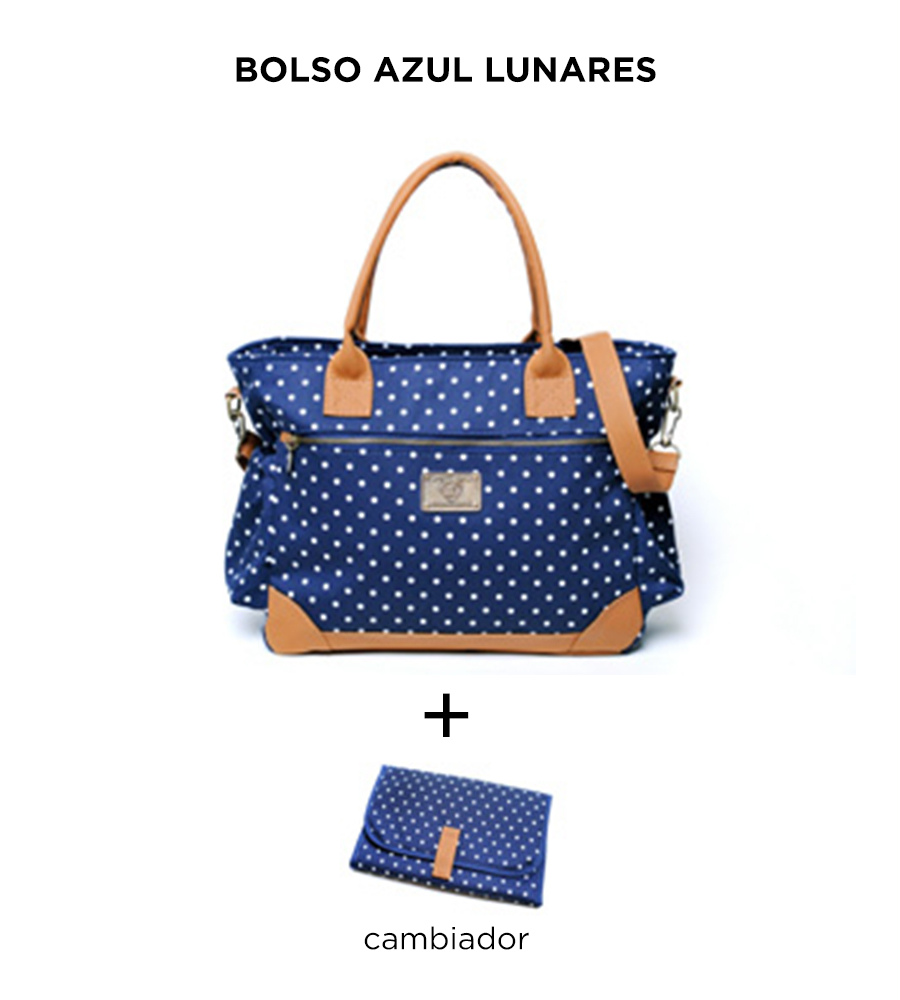Bolso Cata Azul Lunares de Happy Little Moments