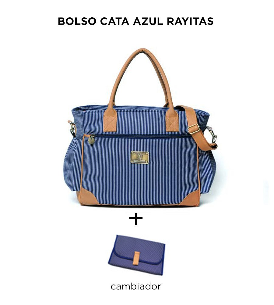 Bolso Cata Azul Rayitas de Happy Little Moments - comprar online