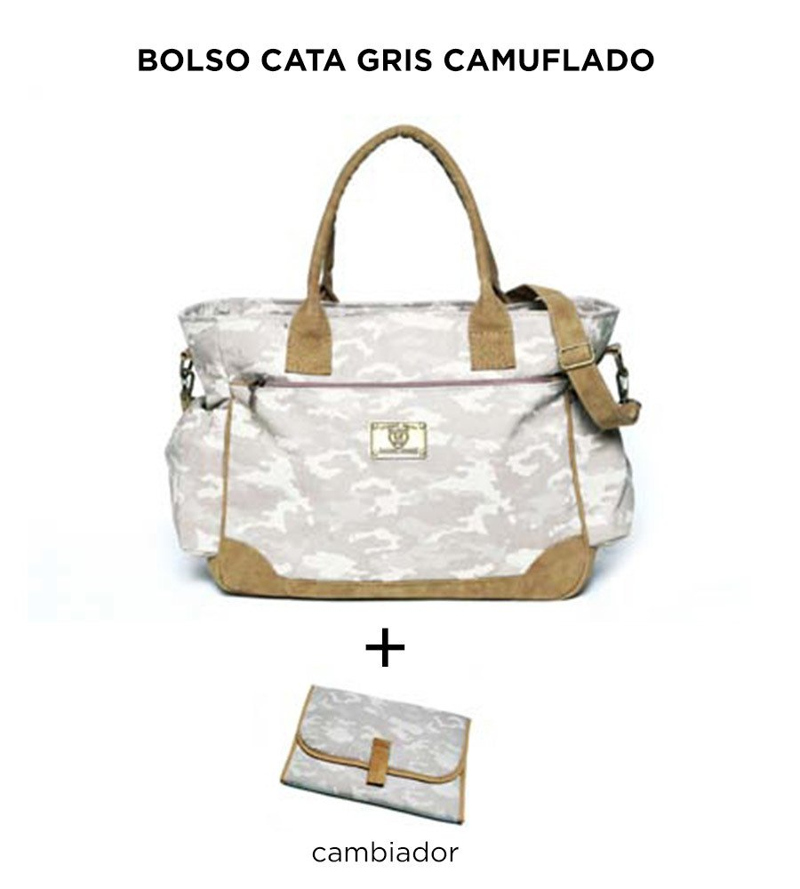 Bolso Cata Gris Camuflado de Happy Little Moments - comprar online