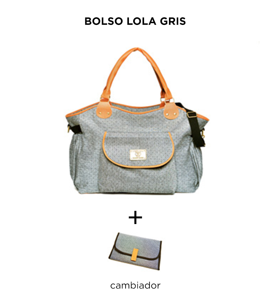 Bolso maternal Lola Gris de Happy Little Moments