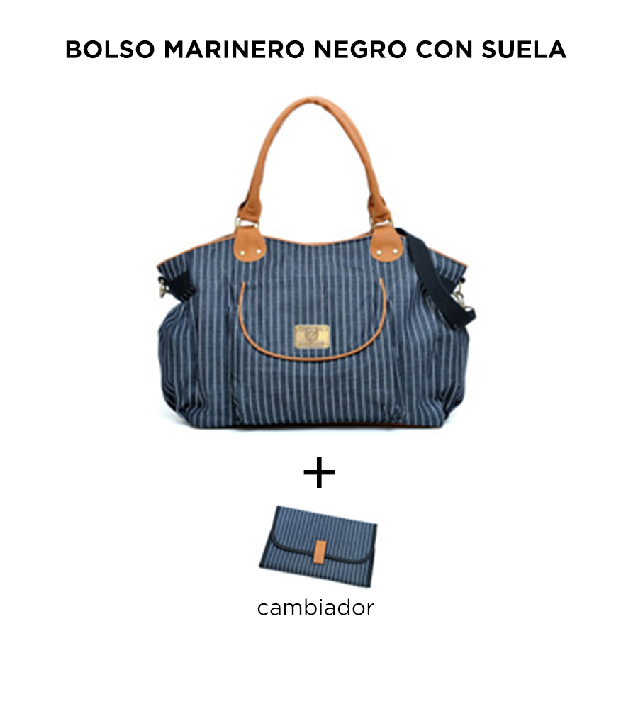 Bolso Marinero negro con suela de Happy Little Moments - comprar online