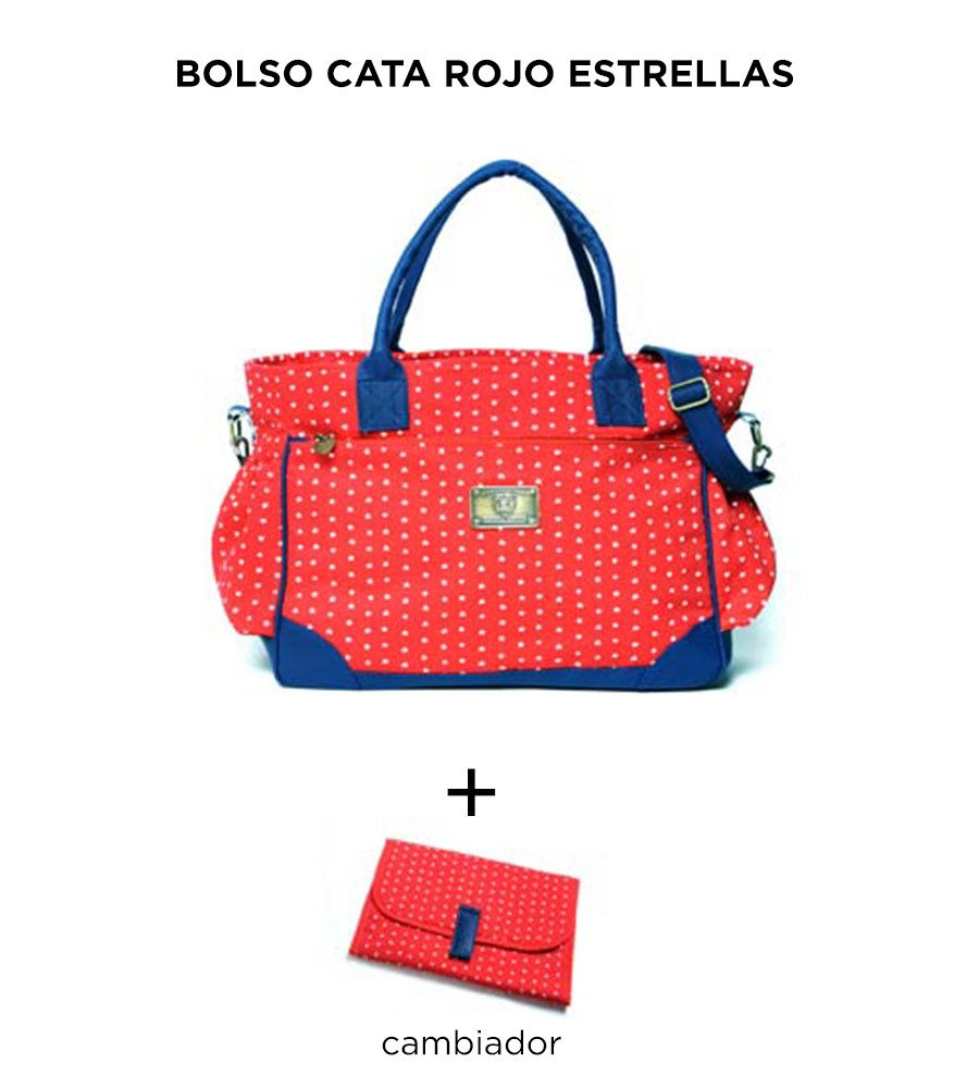 Bolso Cata Rojo Estrellas de Happy Little Moments - comprar online
