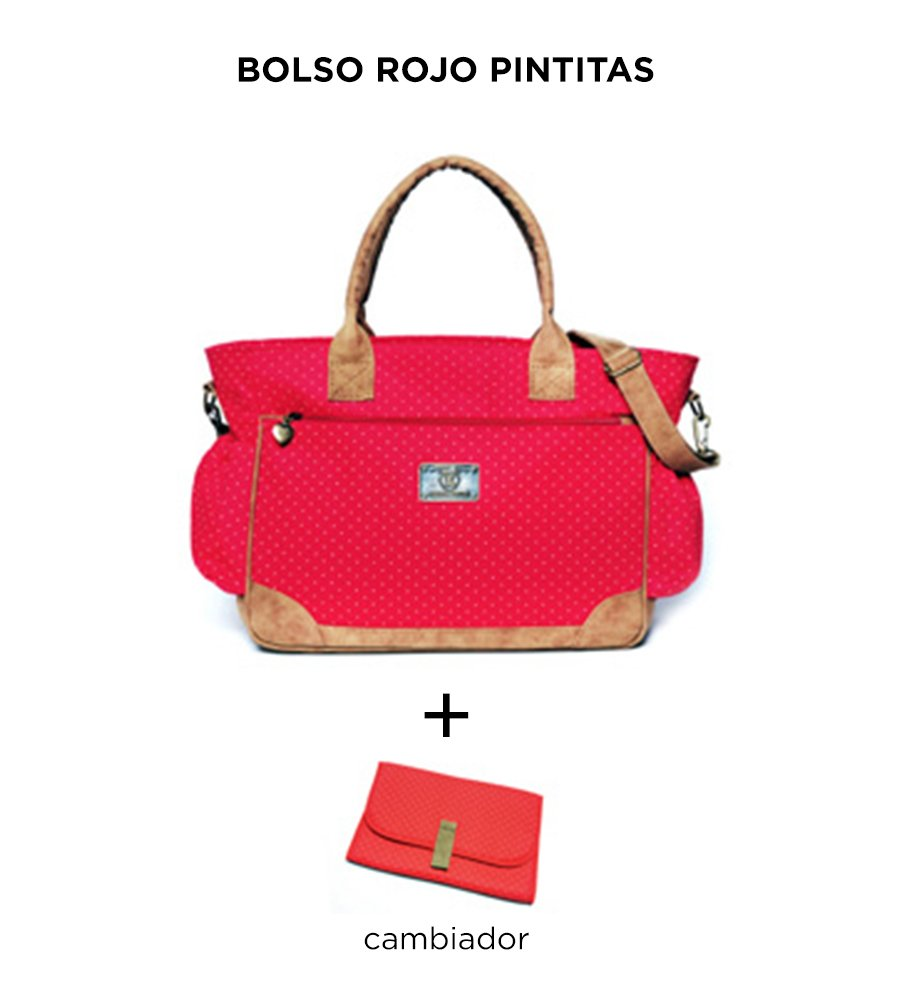 Bolso Cata Rojo Pintitas de Happy Little Moments - comprar online