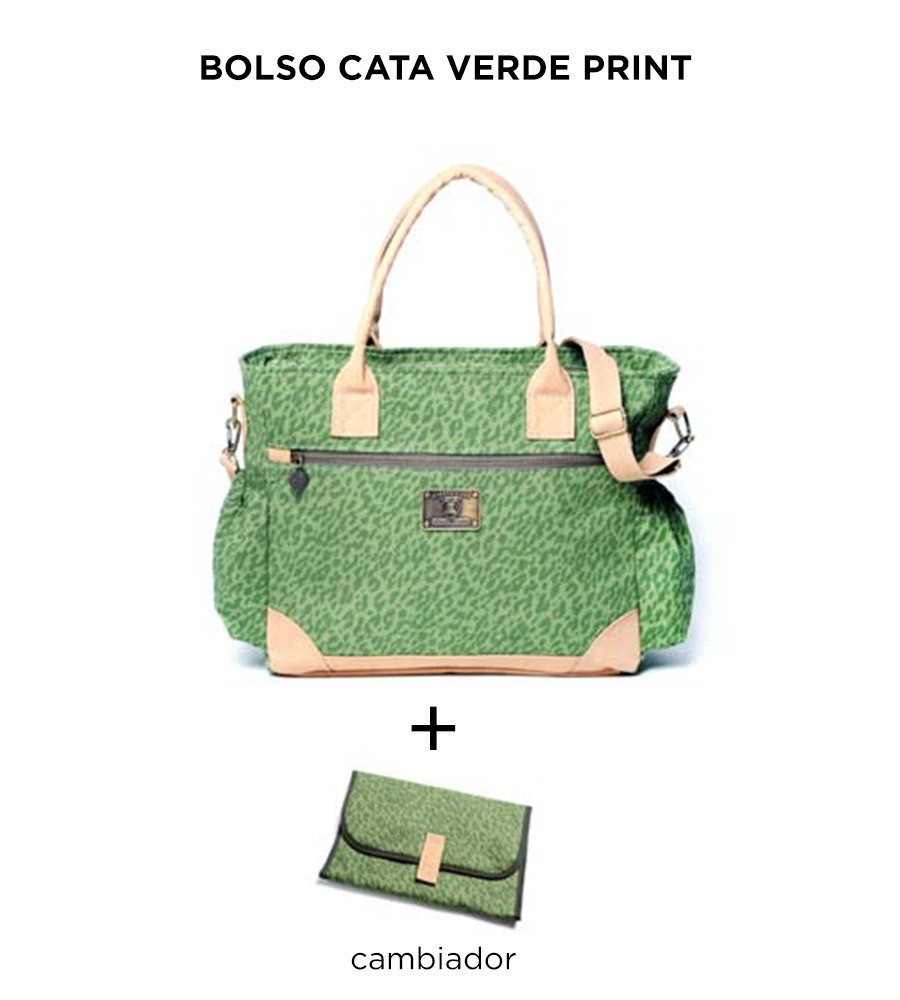 Bolso Cata Verde Print de Happy Little Moments en internet